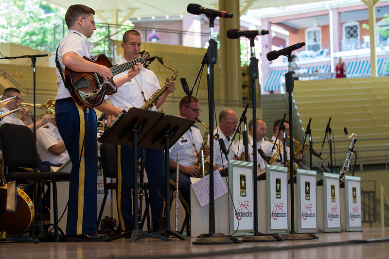 The Jazz Ambassadors of the United States Army Field Band perform at the Amphitheater on Sunday, June 25, 2017. ERIN CLARK / STAFF PHOTOGRAPHER