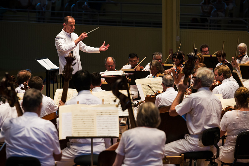 Rosen Milanov and the CSO perform Richard Wagner's music on Tuesday, July 18, 2017 in the Amp. ERIN CLARK / STAFF PHOTOGRAPHER