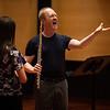 Richard Sherman, the Rita and Dunbar VanDerveer Symphony Principal Chair for Flute, teaches a Master Flute class in Fletcher Music Hall on Monday, July 24, 2017. ERIN CLARK / STAFF PHOTOGRAPHER