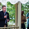President Michael E. Hill addresses guests at the President's Cottage during the Lewis Miller Circle Reception on Thursday, August 3, 2017. ERIN CLARK / STAFF PHOTOGRAPHER