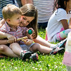 Clara Struk, 6, a nd her brother Colin, 20 months, play with musical instrument sat the Children's School open house on Friday, July 14, 2017. ERIN CLARK / STAFF PHOTOGRAPHER