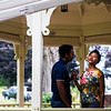 Actors from the Chautauqua Theater Company Siddiq Saunderson and Adrianna Mitchell perform a scene from Romeo and Juliet at the Lewis Miller Circle Reception at the President's Cottage on Thursday, August 3, 2017. ERIN CLARK / STAFF PHOTOGRAPHER