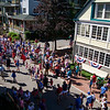 Bystanders gather near the Colonnade porch for the Children's Independence Day Parade on Tuesday, July 4, 2017. ERIN CLARK / STAFF PHOTOGRAPHER