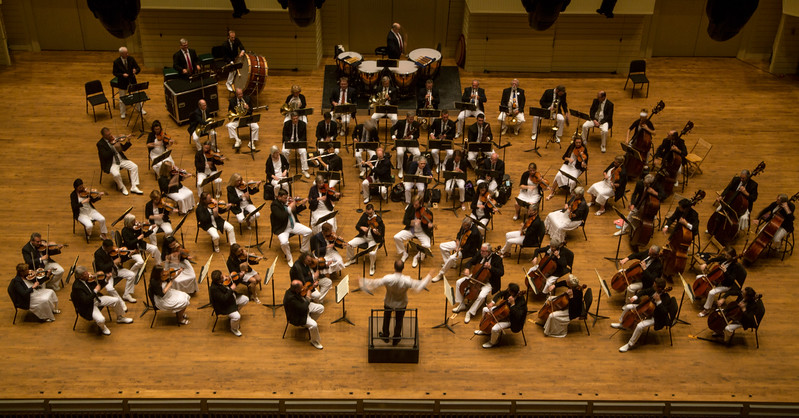 Members of the CSO perform Beethoven's Symphony No. 9 during a joint performance with the Columbus Symphony Chorus on Saturday, July 1, 2017. ERIN CLARK / STAFF PHOTOGRAPHER