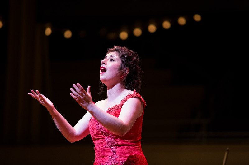 "Chelsea Friedlander performs Giacomo Puccini's ""O mio babbino caro"" from ""Gianni Schicchi"" at the Chautauqua Symphony Orchestra Opera Highlights Concert conducted by Steven Osgood in the Amp on Saturday, July 15, 2017. ERIN CLARK / STAFF PHOTOGRAPHER"