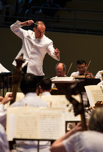 Conductor Rosen Milanov and the CSO perform Richard Wagner's music on Tuesday, July 18, 2017 in the Amp. ERIN CLARK / STAFF PHOTOGRAPHER