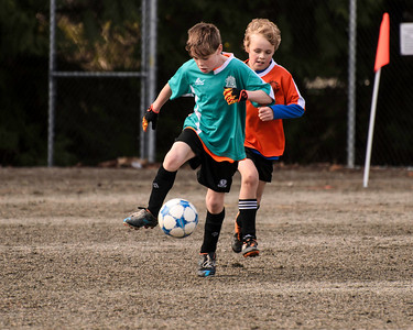 Year end soccer tournament today. Way to find the ball Meryk. Proud of you <3