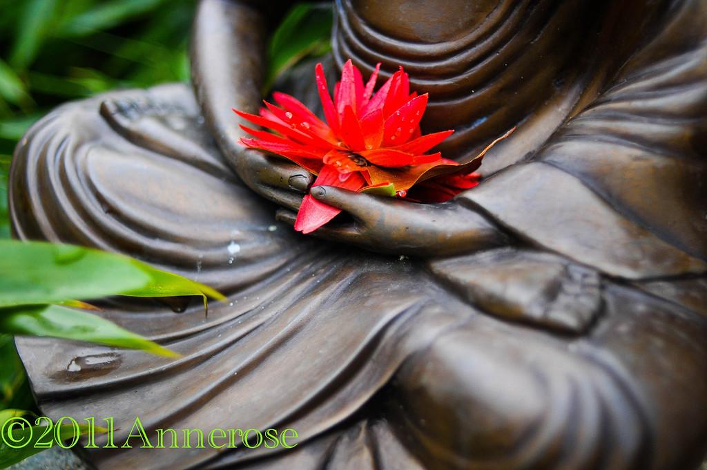Buddha in Mang Bo's Garten