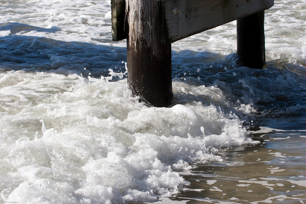 <h2>Just having some fun with frothy water at the edge of the dock. </h2><em>Photo credit: Marcy Crowe Spears </em>