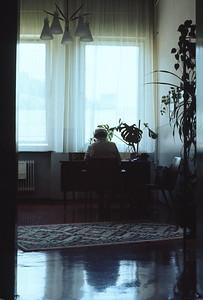 Frau Direktor Schallhammer in ihrer Kanzlei