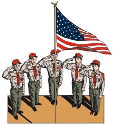Boy Scout & Flag