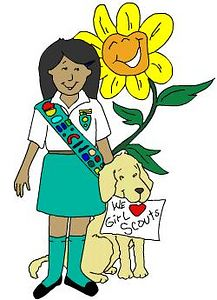 Girl Scout & Dog