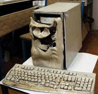 Melted Computer