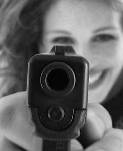 Julia with Gun
