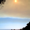 Smoky sky from fires, 2008. The ashes fell like snowflakes.
