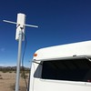 """TV antenna mounted on 6 foot PVC mast.  The PVC mount securely on the  """"Marine Post Guide On"""" hardware."""