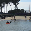 After swimming from Alcatraz, swimmers reach St. Francis beach