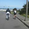 Riding through Golden Gate Park to Ocean Beach