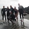 Swim finish at St. Francis Beach