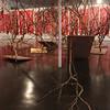 Escultura em madeira, galhos de árvore, tubos de cobre e folhas de ouro<br /> Dimensões variáveis<br /> 2011