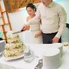 Esküvői torta szeletelés