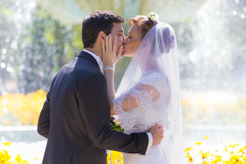Csók az Érsekkertben a szökökútnál