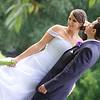 Páros beállított kreatív esküvői kép
