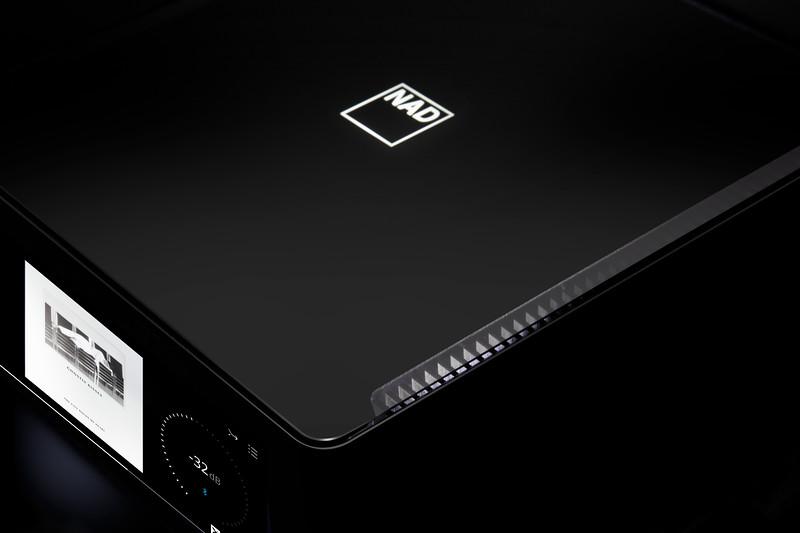Product photo - black background