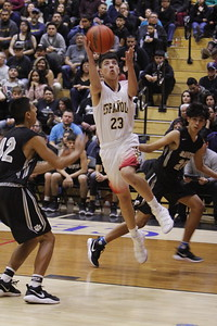 The first quarter of the Española Valley High School vs Capital High School boys basketball game at Española on Tuesday, January 23, 2018. Luis Sánchez Saturno/The New Mexican
