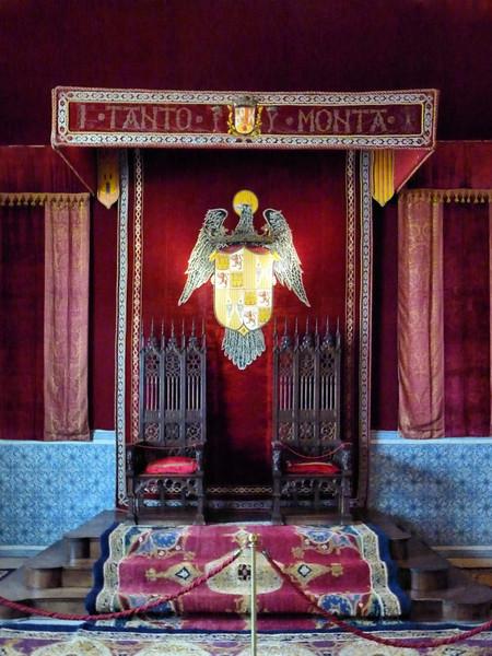 Trono dos Reis Católicos, Alcazar de Segóvia