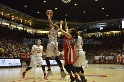 Class 5A girl's semifinals basketball game between Espanola Valley and Gallup played Thursday, March 10, 2016 at The Pit, Albuquerque. Clyde Mueller/The New Mexican