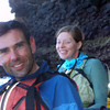 March 6: Paddling the caves on the eastern shore. Steve and Sherry.