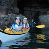March 6: Paddling the caves on the eastern shore. Barbara and Dirk followed by Barb.