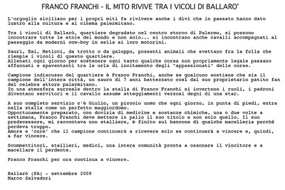"Reportage ""Franco Franchi""  - Palermo 2009"