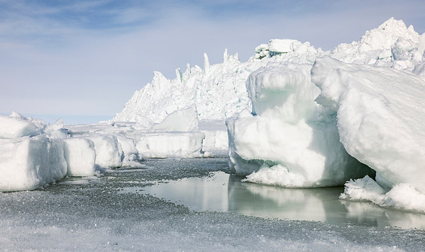 Sea Ice Structures at the shores of Marjaniemi
