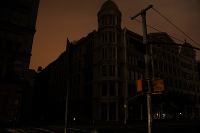 The eerie streets...