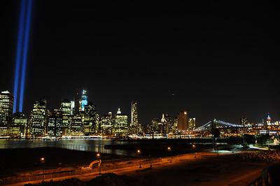 a view of the installation from the Brooklyn Heights Promenade, 2012