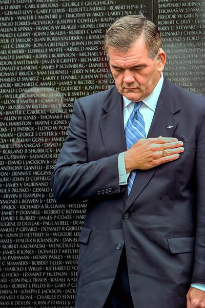Tom Ridge, Secretary of Homeland Security at the Vietnam Veterans Memorial, Memorial Day (2004)