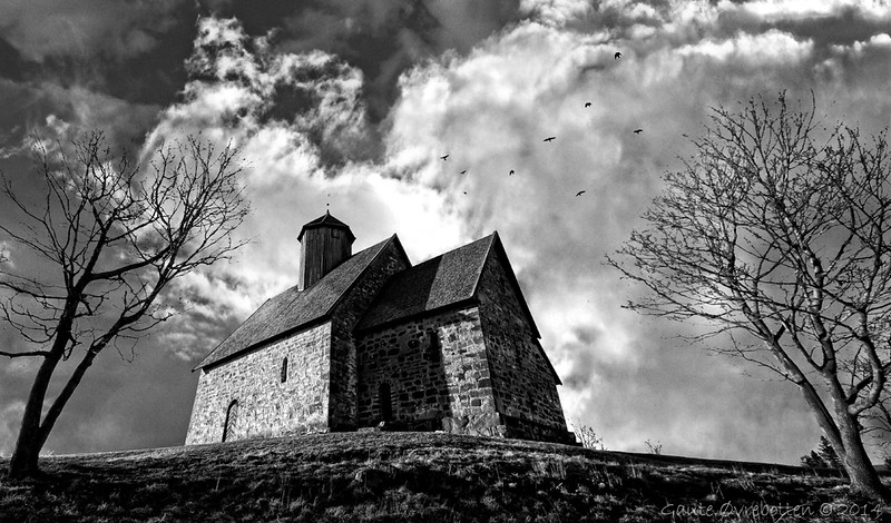 St Petri (St Petri, a Medieval stone church).<br /> Composite (added skies).
