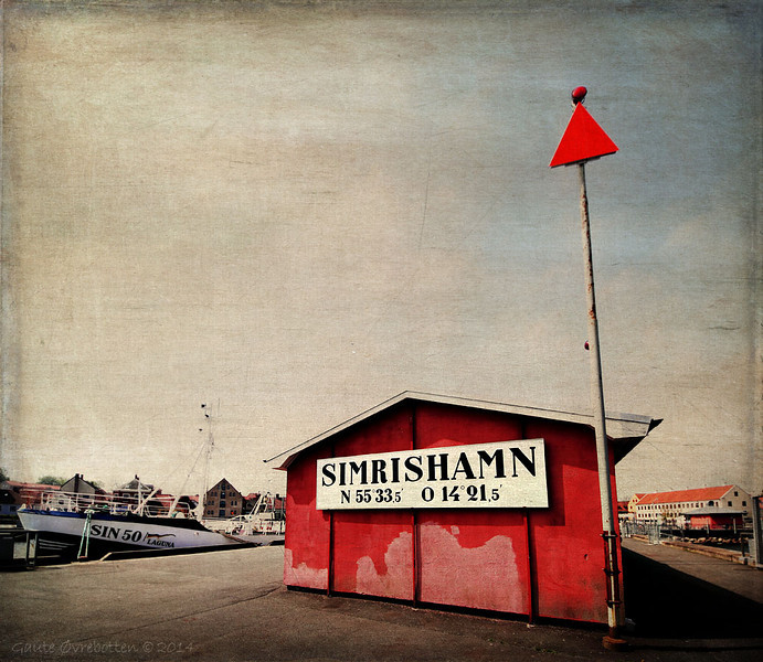 Simrishamn (Österlen, Sverige).<br /> 'Creative edit'