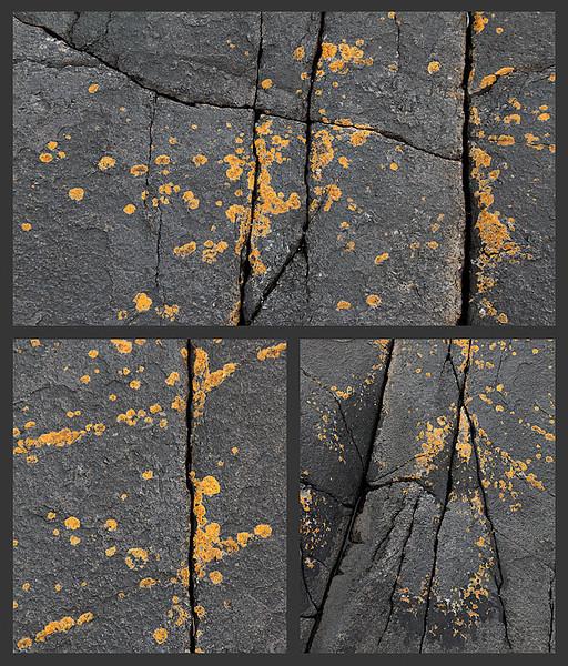 Triptyk - detaljar frå Grøtvika (Stavern).<br /> (Triptych)