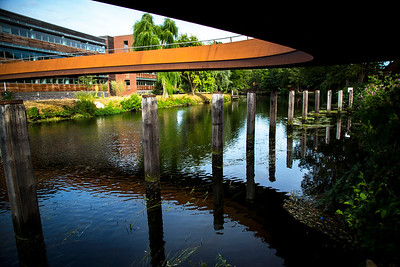 Under The Corten Steel of Jarrold Bridge, Norwich