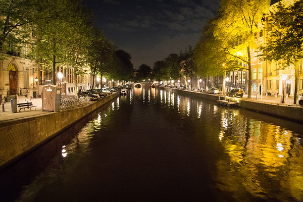 Glimpse Of Amsterdam Canal