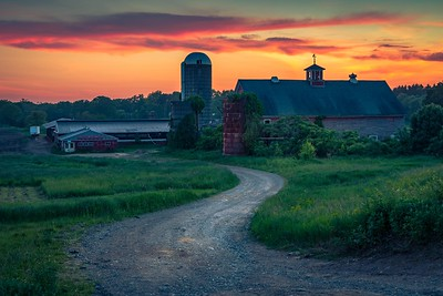 Sunshine Dairy Farm Sunset