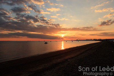 Sunset on the beach at Southend
