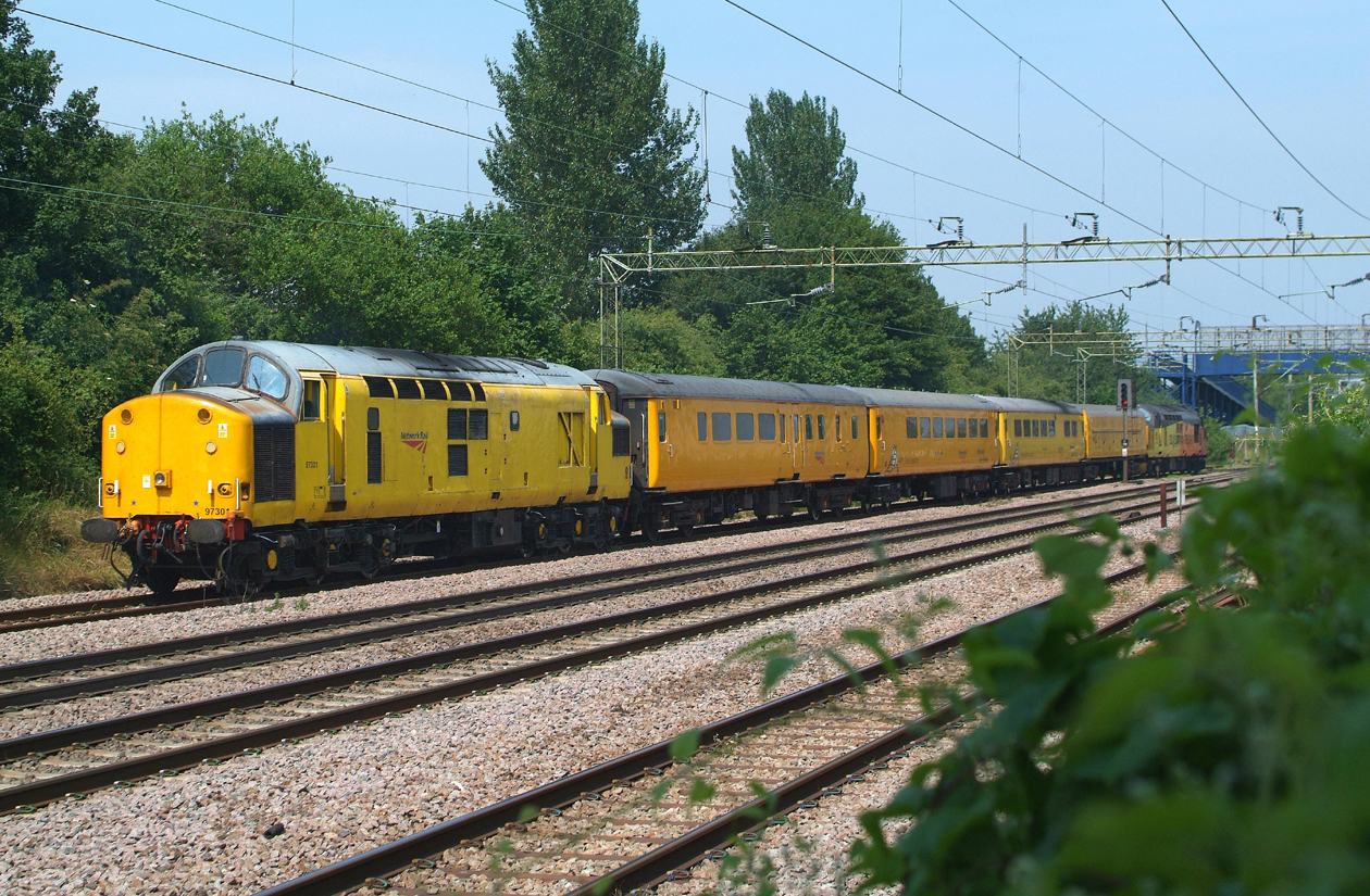 Bringing up the rear, 97301, Witham DGL. 1Q97 heads east 14.48hrs.21.6.2017