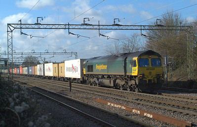 66517 Witham 1.2.2018. 11.00hrs.4M89 22.01 Coatbridge FLT-Felixstowe N FLT.