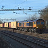 Shadow cleared the rails 09.52hrs ( Train booked time ).<br /> 66757 Witham 8.2.2018 10.09hrs. 4L02 03.49 Hams Hall GBRf-Felixstowe N GBRf