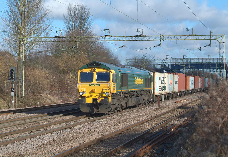 66546 Witham 1.2.2018 11.25hrs. 4M63  09.12 Felixstowe N FLT- Ditton  ( Oconnor )FLiner.