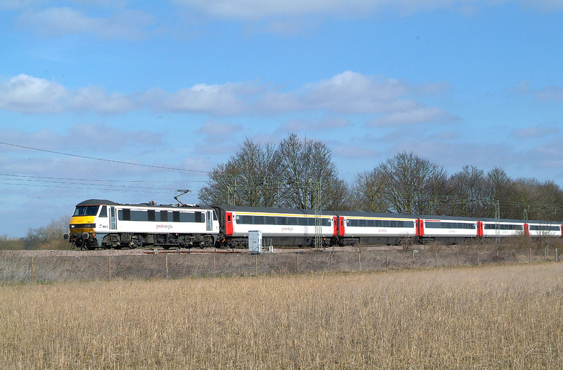 90013 Terling Rd. 22.3.2018 11.47 hrs. 1P29 10.30 Norwich- Liverpool St.